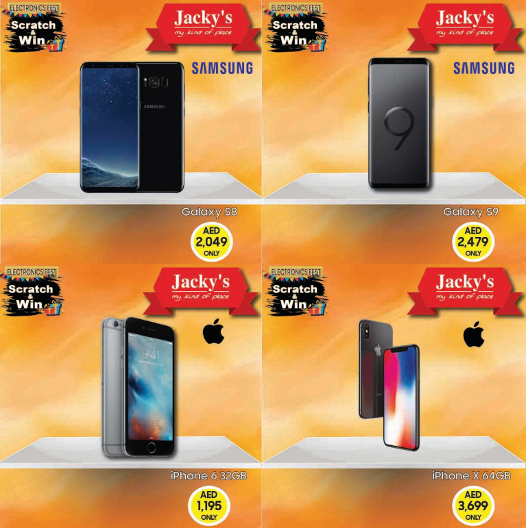 Iphone X & Samsung s9 Mobile Deals Scratch And Win In Jacky