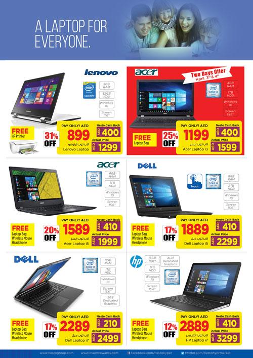 Nesto Gitex Shopper Mobile Laptop Offers 2018 - UAE DUBAI