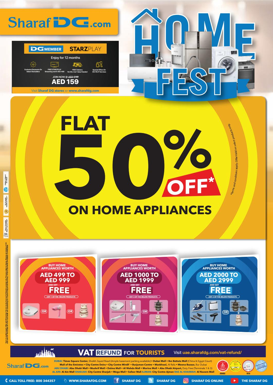 Sharafdg Home Appliances Big Sale Offers