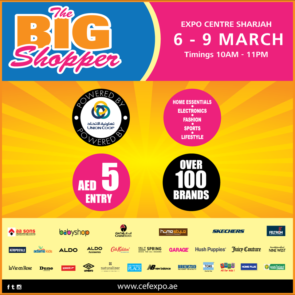 Sharjah Expo Center Offers The Big Shopper Event