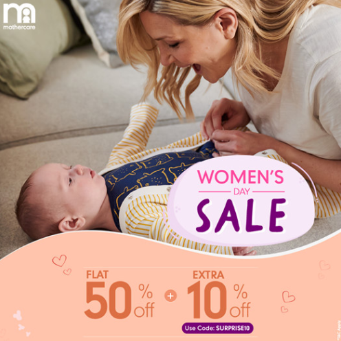 Mothercare Women's Day Sale Offers